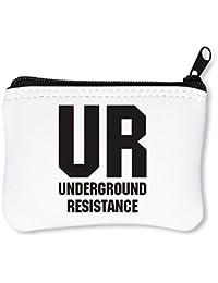 UR Underground Resistance Billetera con Cremallera Monedero Caratera ae441f86c0a
