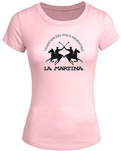 la-martina-2016-per-da-donna-a-manica-corta-con-stampa-tops-t-shirts-pink-xx-large