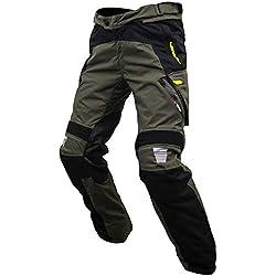 ARMR Moto Pantalón Impermeable Moto Tottori Evo 2 Negro-Gris-Fluorescent Amarill (Xl, Gris)