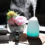 Diffusor Aromatherapie,VicTsing Aroma Diffuser 150ml Luftbefeuchter Ultraschall Vernebler, Ultra Leise Diffuser BPA-Free Öle Diffusor mit 8 Farben LED Humidifier Duftlampe für Kinderzimmer Wohn- Büro - 2