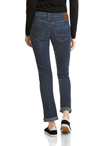 Street One Damen Straight Jeans 371031 Kate Blau (Dark Blue Random Bleach  Wash 11135)