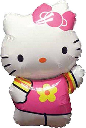 Ballonim Hello Kitty Sommer Kleid ca. 80cm Luftballons Folienballon Party DekorationGeburtstag