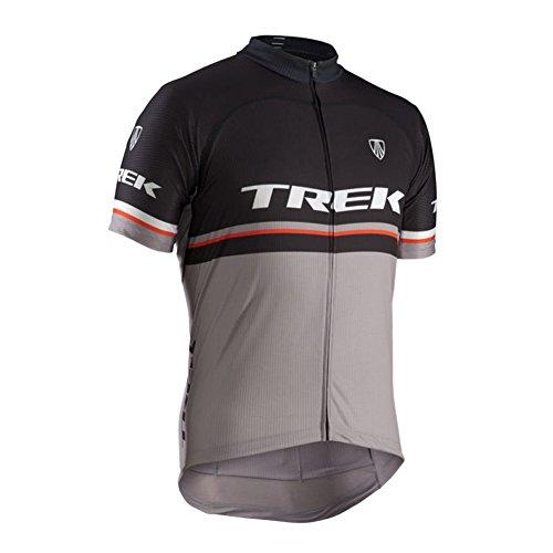 Strgao 2016 Herren Radtrikot Shirt Kurzarm Pro Team Trek MTB Radfahren Top Radshirt Atmungsaktiv Durchgehender Rei?verschluss (Bontrager Super)