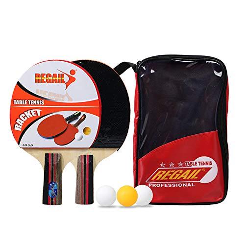 Tischtennis-Set Sports   2 Allround Tischtennisschlaeger   Doppelschläger-Hülle   3x3 Stern Bälle   Langlebige Beläge   Ergonomische Griffschalen   Garantie