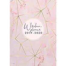 Wochenplaner 2019-2020: Juli 2019 bis Dezember 2020, modernes Marble Cover Design mit rose-gold Pattern, Wochen- und Monatsplaner, 1 Woche auf 2 Seiten, 15x21 cm (Bürobedarf 2019-2020, Band 2)
