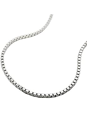 ASS 925 Silber Venezianer Kette Halskette, Collier 50cm,diamantiert,1mm
