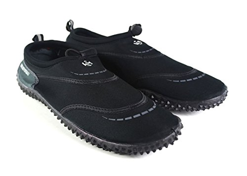 Typhoon Swarm Wassersportschuh / Aqua-Schuh / Wasserschuh, in Erwachsengrößen 37–46, damen, Wasserschuhe, schwarz / grau, UK Adult 7