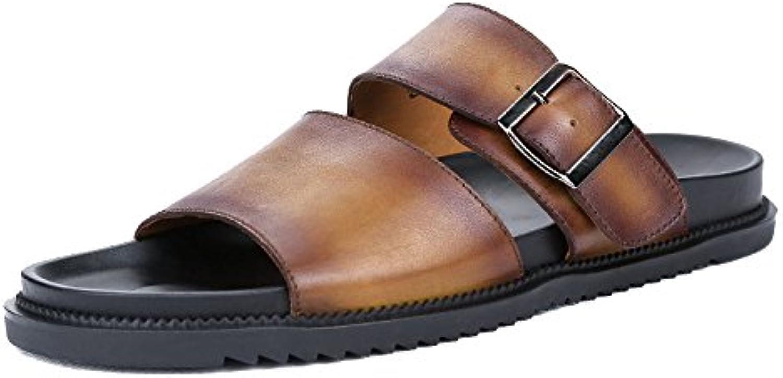 LYZGF Hombre Juventud Verano Ocio Sandalias Moda Al Aire Libre Zapatillas De Playa -