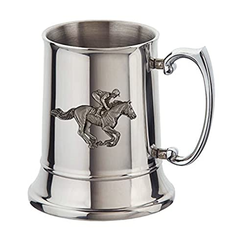 Stainless steel horse racing tankard