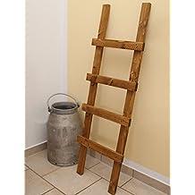 Porte serviette bois for Echelle salle de bain en bois