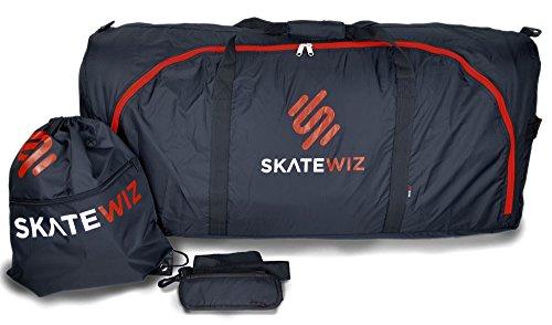 SKATEWIZ Flight Bag Flugzeug Schutztasche und Daypack