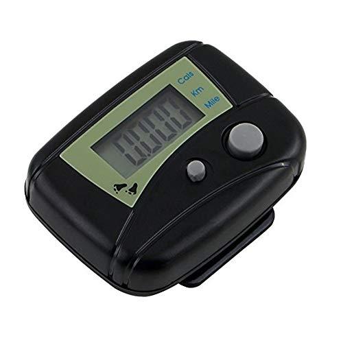 lujiaoshout Präzise Mini elektronische Pedometer beweglicher Schritt Tracker LCD Pedometer Fuß erreichbar Kalorienzähler mit Clip für Walking Schritte Meilen/Km Schwarz - Bid-tag-taschen