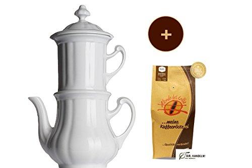 Bayreuther Kaffeemaschine 0,85 Liter von Walküre Aktionspaket mit 1* 250 g Spitzenkaffee von Mondo...