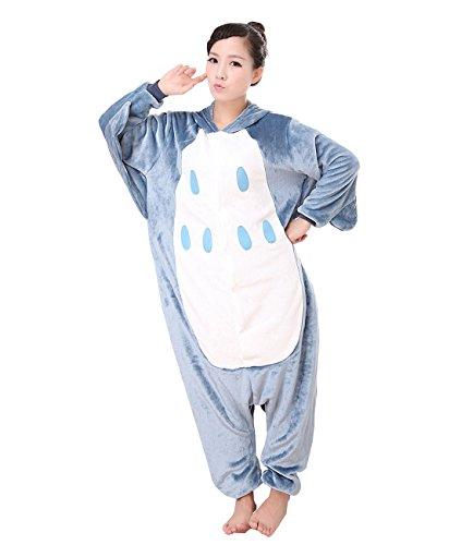 idear Unisex Adult Nachtwäsche Nachtwäsche Tierkostüm Kigurumi Onesie (Hellblau, L) (Goofy Halloween-kostüme)