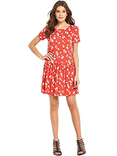 french-connection-tropicana-dress-in-red-multi-size-10