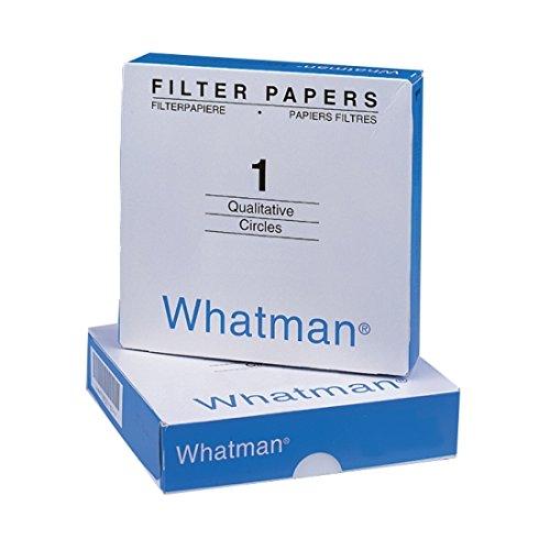 Whatman 1001-125Qualitative Filter Papier Kreise, 11Mikron, 10.5S/100ml Durchflussmenge, Stufe 1, 125mm Durchmesser (100Stück) (Labor-filter-papier)