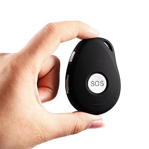 GPS Tracker,LESHP Peilsender GPS Verfolger GPS Sender GPS Tracking System mit Echtzeit Tracking für Kinder / Senioren / Persönlich / (Gps Tracker Für Kinder)