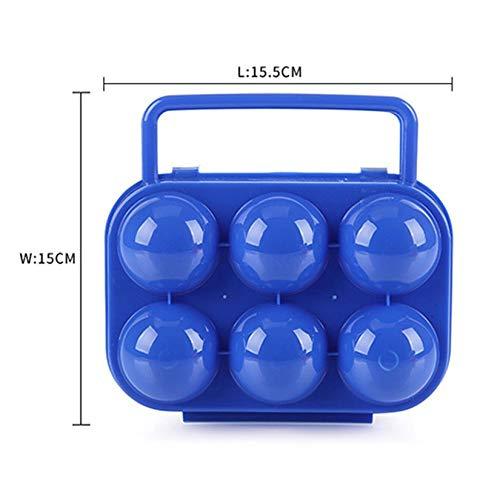 Wenwenzui-DE 6 Outdoor Picknick Tragbare Eierbox