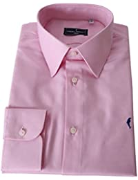 """DOMENICO AMMENDOLA, Camicia """"Firenze"""" in Cotone Egiziano, Rosa, Regular Fit, Made in Italy"""