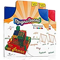 Playmags Building Board - Magnetic Starting Building Plate for Playmags or Other Magnetic Tiles - Great Add on to Any Magnetic Tile Toy - Colors May Vary
