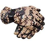 AdroitZ Warm Snow and Wind Proof Winter Gloves for Men Protective Warm Hand Riding, Cycling, Bike Motorcycle Gloves (Black_L)