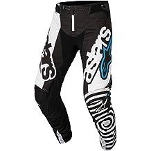 Alpinestars Techstar Venom Motocross pantalones 2018–, color blanco y negro azul, Blue,Schwarz,White