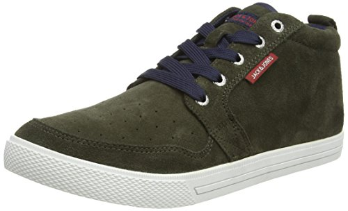 JACK & JONES Jjjuno Casual Herren Hohe Sneakers Grün (Forest Night)