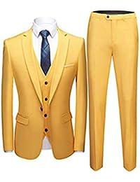 Sliktaa Costume Homme 3 Pièces Slim Fit Formel Multicolore Smoking de  Mariage Business Soirée Veste Gilet 08846316a19