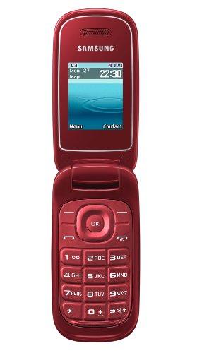 Samsung E1270 Klapphandy (4,5 cm (1,8 Zoll) TFT Farbdisplay) rot -