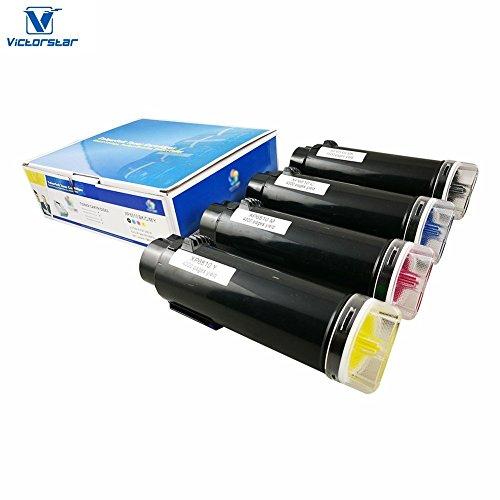 VICTORSTAR Kompatible Xerox 6510 / 6515 Tonerpatrone (BK + C + Y + M) 4 Farben Die Höchste Ausbeute 5500 Seiten & 4300 Seiten für Laser Jet Drucker Xerox Phaser 6510 WorkCentre 6515