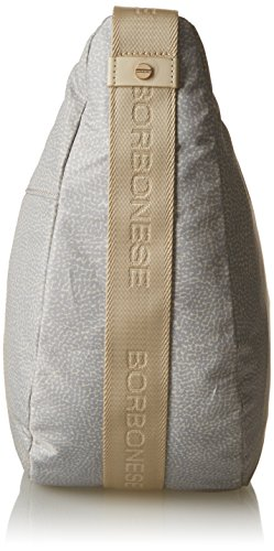 Borbonese 934757296, sac bandoulière Grigio (Light Grey)