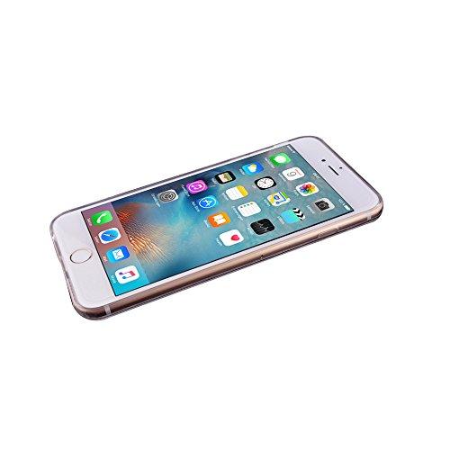 Minto Schutzhülle iPhone 6 Plus / 6S Plus aus weichem Silikon Spiegel Hülle TPU Case Mirror Effect Cover Tasche Rosegold Silber -i6