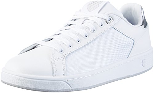 K-Swiss Clean Court Cmf, Sneakers Basses Femme Blanc (White/Silver 133)