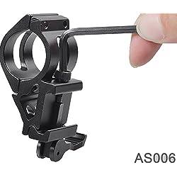 UniqueFire AS006 Rifle táctico montaje del carril para linterna caza Alcance láser
