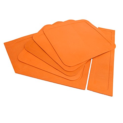 Wilks - Kit di tappetini di base per softball, in gomma, colore: Arancio