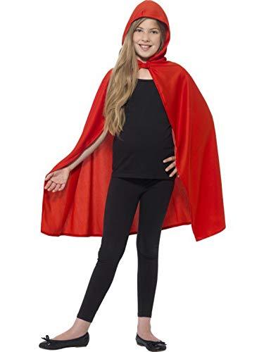Fancy Ole - Kinder Jungen Boy Mädchen Girl Vampir Hexen Teufel Dämonen Umhang mit Kapuze Kostüm, perfekt für Halloween Karneval und Fasching, 128-152, (Dämon Kostüm Mädchen)