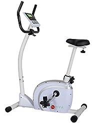 AsVIVA H19 Ergometer Cardio Heimtrainer mit 10kg Schwungmasse, Riemenantrieb inkl. Computer mit 12 Automatikprogrammen, 16 Level und Pulsmessung