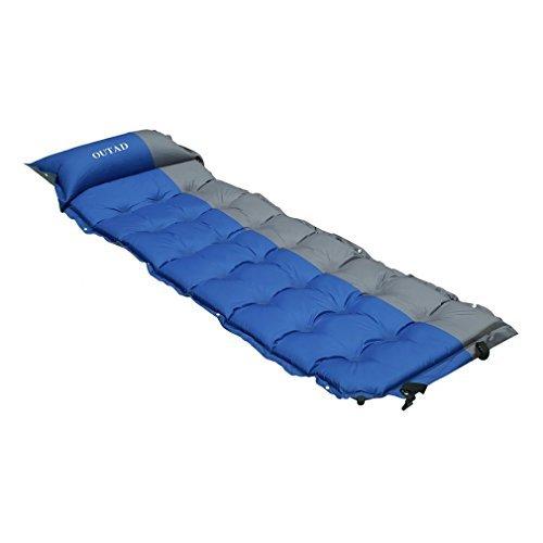 Camping Matratze, iUcar Selbstaufblasende Matratze Selbstaufblasende Schlafsack Matte mit eingebautem Kissen, 78,74 x 25,59 x 2,09 Inches