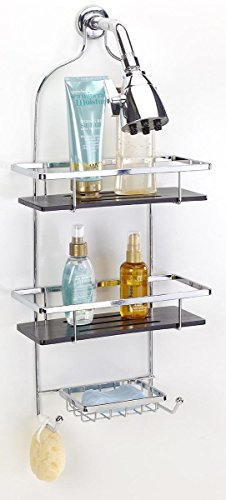 simplify-bamboo-deluxe-flat-wire-shower-caddy-black-bamboo-chrome-finish-by-simplify
