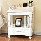 Willsego Moderne Einfachheit Schlafzimmer Schrank Nachttische (Farbe : Weiß, Größe : -)