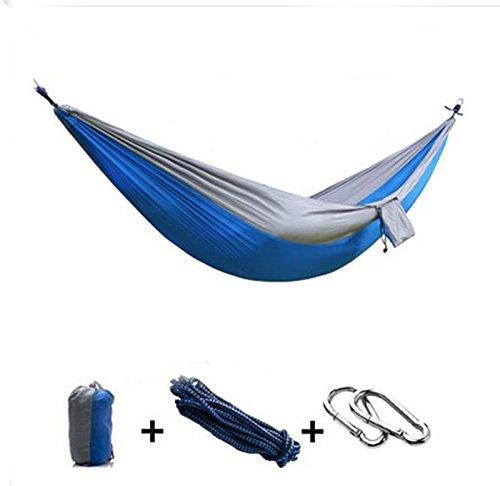 HQS® Genießen Sie den tragbaren Parachute Nylongewebe -Reisen Camping Hammock Für Doppel Zwei
