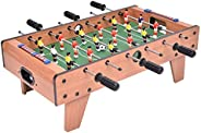 Football Game Table Wooden Tabletop Soccer Set Fun Sports Toys Compact Size with Leg for Game Room Arcades Bar