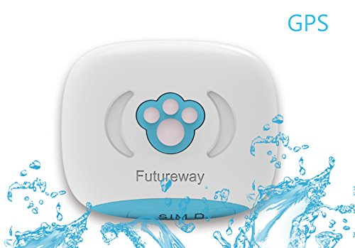 Futureway Mini GPS Pet Tracker for Cats – Real-time Tracking, 90 Days Route Checking