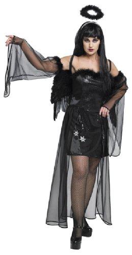 Rubie's Halloween Damen Kostüm Dark Angel als schwarzer Engel an Karneval 42