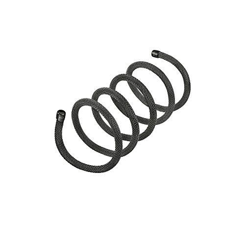 Breil - collana bracciale donna collezione new snake tj2717 - gioiello modellabile in maglia mesh metallica di acciaio - lunghezza 80 cm - nero/black