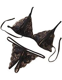 Conjunto lencería, ✽Internet✽ Ropa interior del cordón de las mujeres ropa de dormir G-secuencia de la ropa ropa de dormir