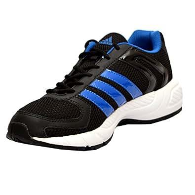 adidas Men's Galba Black and Blue Mesh Running Shoes - 6 UK