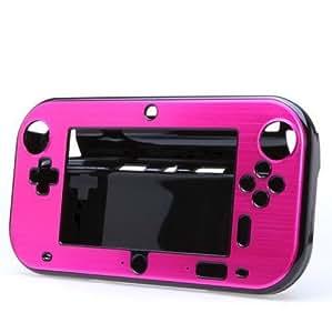 Goliton® Étui/Coque dure en aluminium Anti-choc pour Nintendo Wii U Gamepad - Rouge