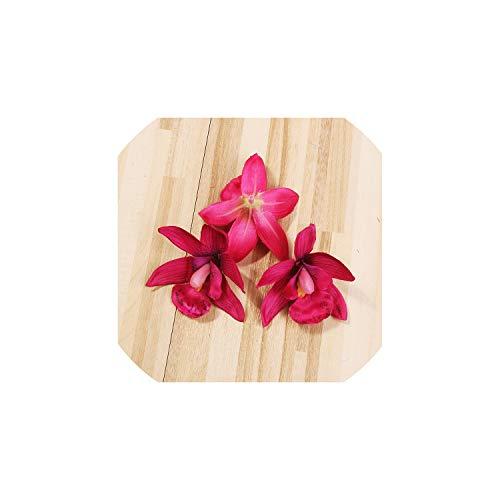 mallcentral-EU Artificial Flower 10Pcs künstliche Orchidee Silk Blüte 8.5cm für Haupthochzeits-Dekoration DIY Kranz Geschenk Scrapbooking Fertigkeit Gefälschte Blume, 13 (Orchideen Flower Silk Bulk)