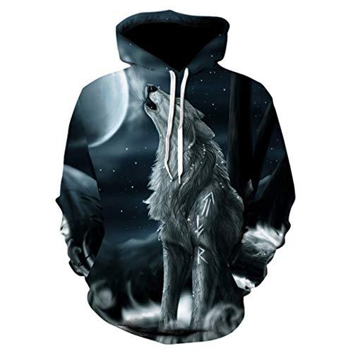 �nner 3D Hoodie Marke Sweatshirt Jungen Jacke Qualität Pullover Sportswear Tier Street Jacke 6 6XL ()